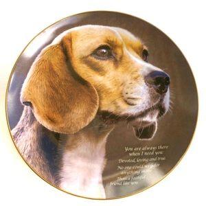 Danbury Mint Collectible Cherished Beagles Plate